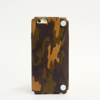 本革一枚で包み込むケース mobakawa ヌメ カモフラージュ iPhone 6s/6ケース