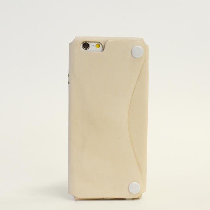 【iPhone6ケース】本革一枚で包み込むケース mobakawa ヌメ ホワイト iPhone 6ケース_0