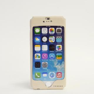 【iPhone6ケース】本革一枚で包み込むケース mobakawa ヌメ ホワイト iPhone 6ケース_1