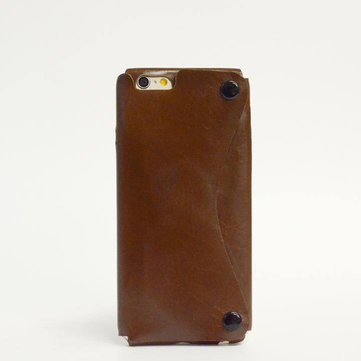 本革一枚で包み込むケース mobakawa カーフレザー ブラウン iPhone 6ケース