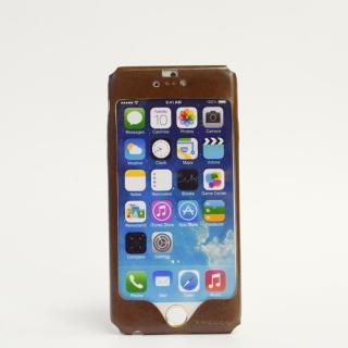 【iPhone6ケース】本革一枚で包み込むケース mobakawa カーフレザー ブラウン iPhone 6ケース_1
