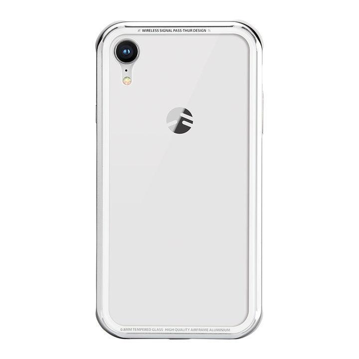 iPhone XR ケース SwitchEasy iGLASS シルバー iPhone XR_0