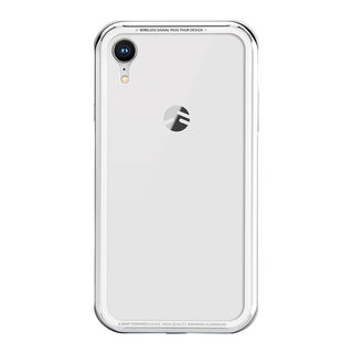iPhone XR ケース SwitchEasy iGLASS シルバー iPhone XR