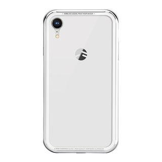 【iPhone XRケース】SwitchEasy iGLASS シルバー iPhone XR