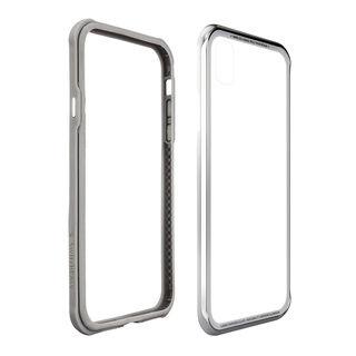 iPhone XS/X ケース SwitchEasy iGLASS シルバー iPhone XS/X