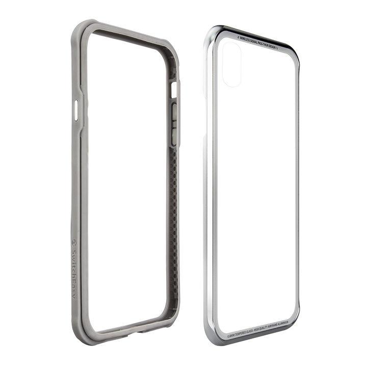 iPhone XS Max ケース SwitchEasy iGLASS シルバー iPhone XS Max_0