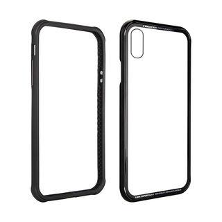 【iPhone XS Maxケース】SwitchEasy iGLASS ブラック iPhone XS Max