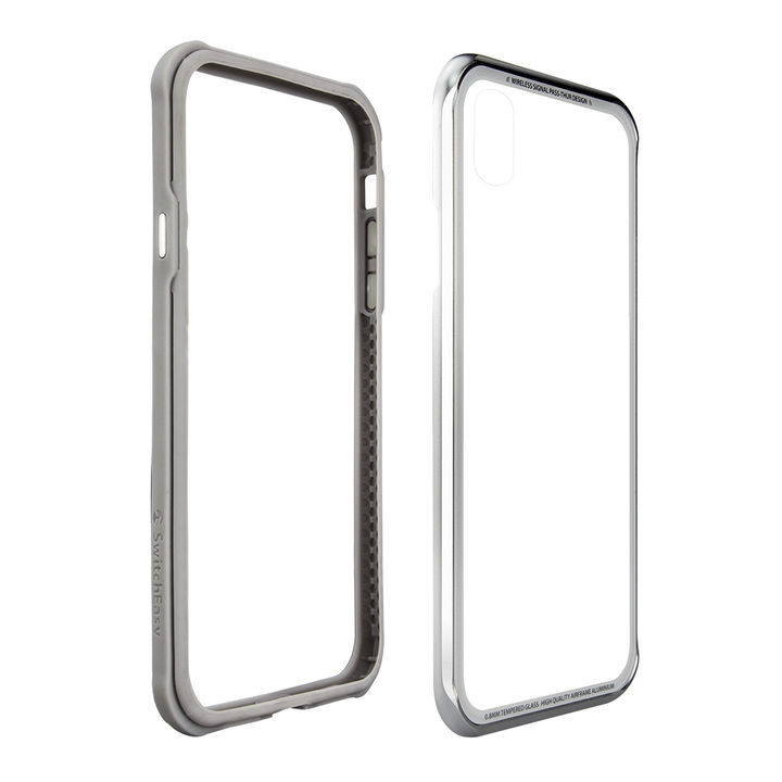 【iPhone XS/Xケース】SwitchEasy iGLASS シルバー iPhone XS/X_0