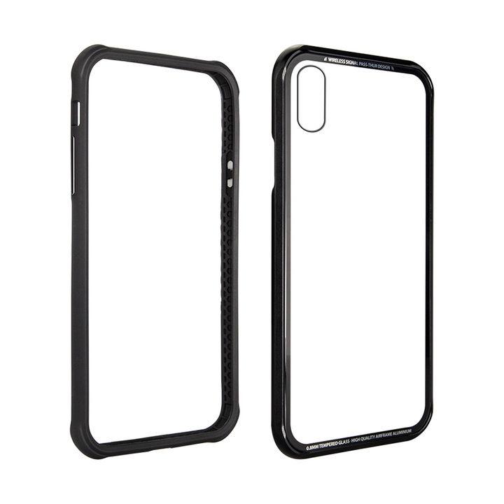 【iPhone XSケース】SwitchEasy iGLASS ブラック iPhone XS_0