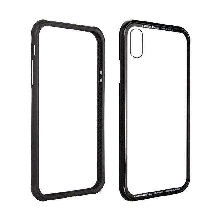 iPhone XS/X ケース SwitchEasy iGLASS ブラック iPhone XS/X_0