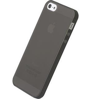 【iPhone SE/5s/5ケース】シリコーンジャケットセット  iPhone 5(クリアブラック)