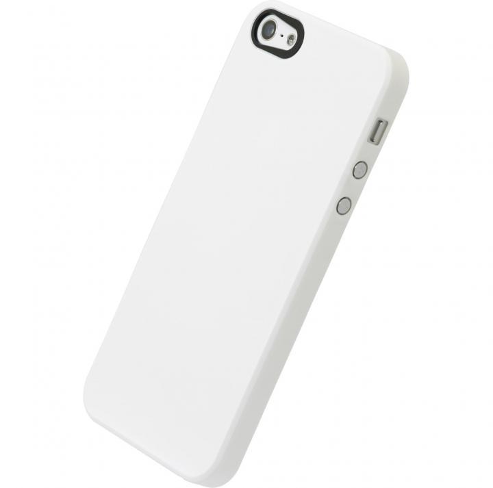 【iPhone SE/5s/5ケース】エアージャケットセット  iPhone 5(ラバーホワイト)_0