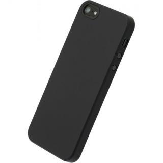 【iPhone SE/5s/5ケース】エアージャケットセット  iPhone SE/5s/5(ラバーブラック)