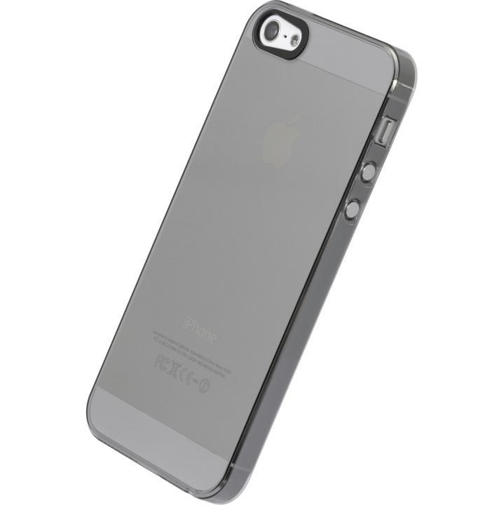 【iPhone SE/5s/5ケース】エアージャケットセット  iPhone 5s/5(クリアブラック)_0