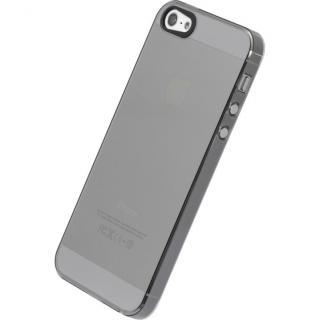 【iPhone SE/5s/5ケース】エアージャケットセット  iPhone 5s/5(クリアブラック)