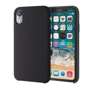 【iPhone XRケース】ハイブリッドシリコンケース ブラック iPhone XR【9月下旬】