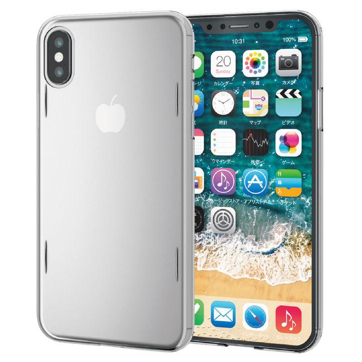 iPhone XS ケース ウルトラスリムシェルカバーケース AQUA クリア iPhone XS_0