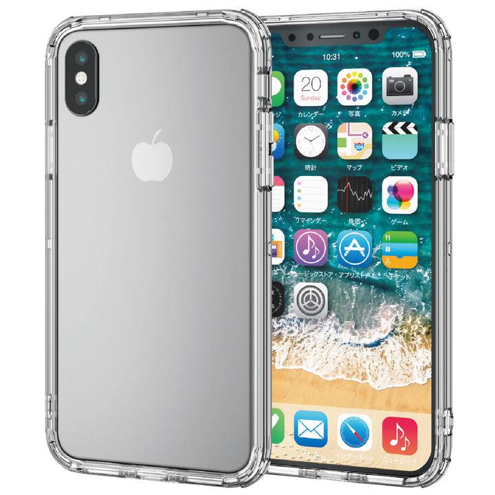 【iPhone XSケース】ハイブリッドバンパー クリア iPhone XS_0