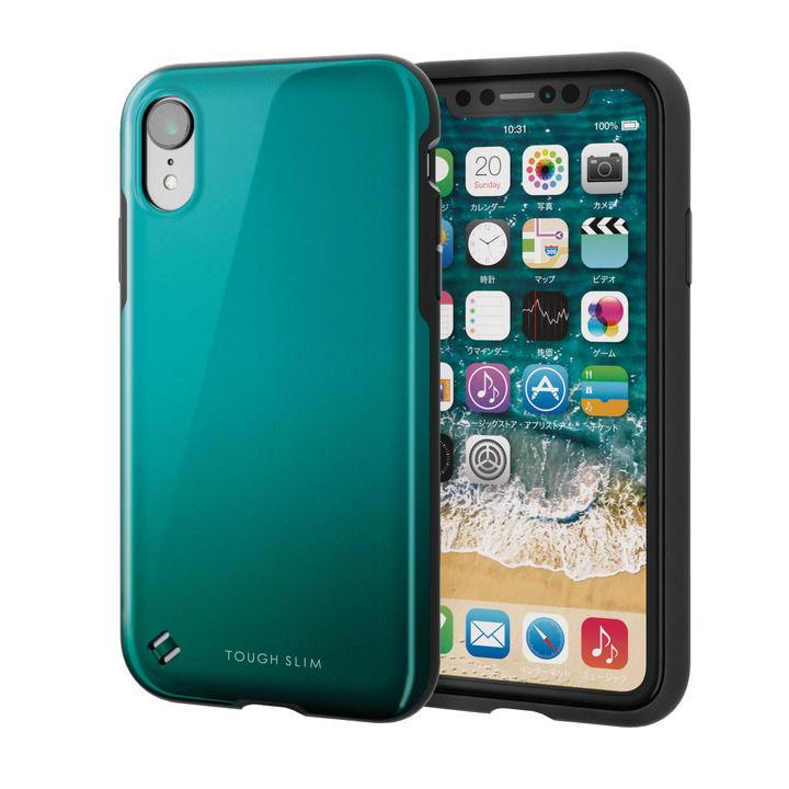 iPhone XR ケース TOUGH SLIM2 2トーンカラーケース グリーン iPhone XR_0