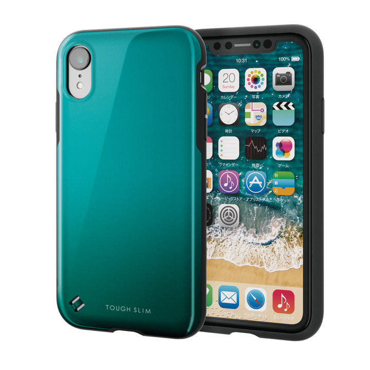 【iPhone XRケース】TOUGH SLIM2 2トーンカラーケース グリーン iPhone XR_0