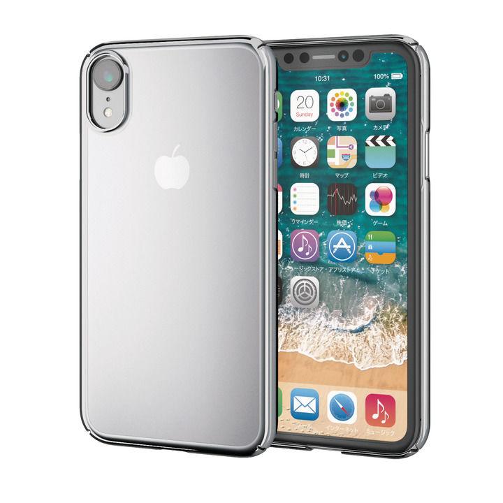 iPhone XR ケース シェルカバー 極み サイドメッキケース シルバー iPhone XR_0