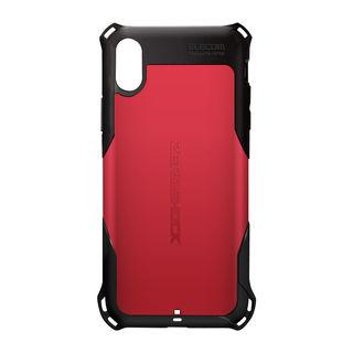 【iPhone XRケース】ZEROSHOCK 耐衝撃吸収ケース スタンダード レッド iPhone XR
