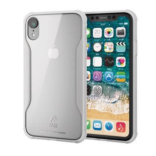 【iPhone XRケース】ハイブリッド強化ガラスケース 耐衝撃設計 クリア iPhone XR