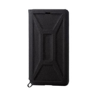 a75633c5dda5 iPhone XR ケース ZEROSHOCK 耐衝撃吸収手帳型ケース ブラック iPhone XR