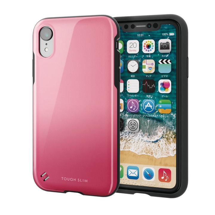 iPhone XR ケース TOUGH SLIM2 2トーンカラーケース ピンク iPhone XR_0