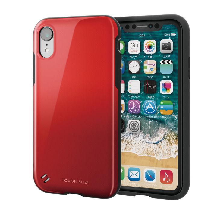 【iPhone XRケース】TOUGH SLIM2 2トーンカラーケース レッド iPhone XR_0