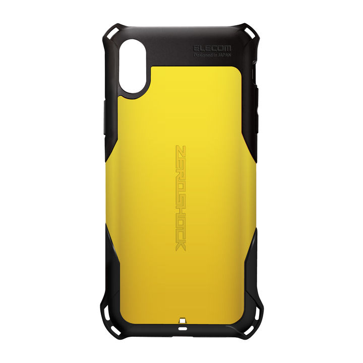 iPhone XR ケース ZEROSHOCK 耐衝撃吸収ケース スタンダード イエロー iPhone XR_0