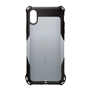 【iPhone XRケース】ZEROSHOCK 耐衝撃吸収ケース スタンダード シルバー iPhone XR