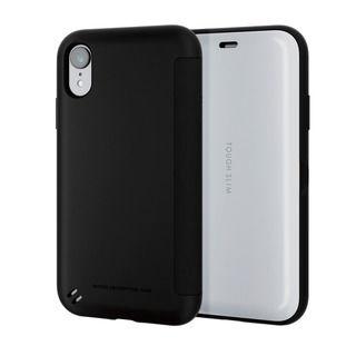 iPhone XR ケース TOUGH SLIM シェルフラップ 手帳型ケース ホワイト iPhone XR