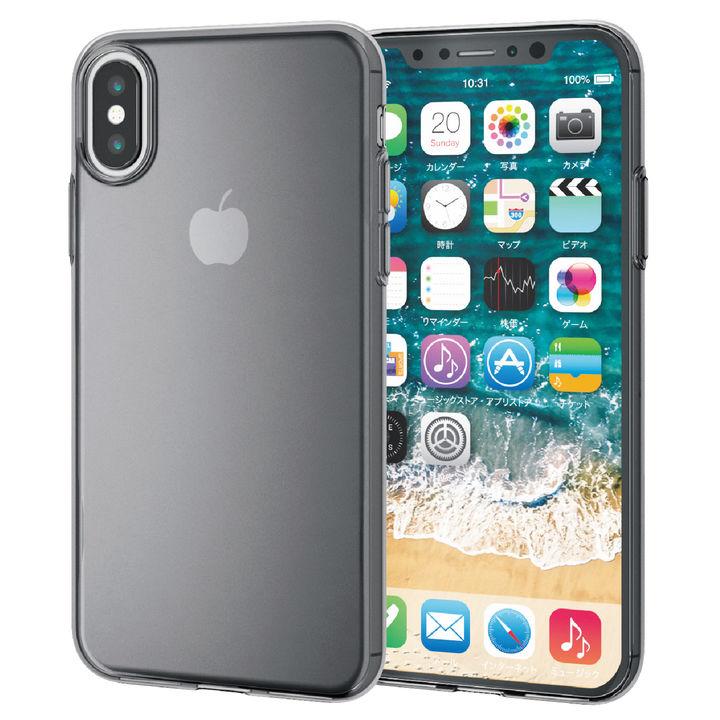 【iPhone XSケース】薄型ソフトケース ブラック iPhone XS_0