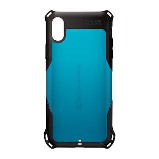 【iPhone XRケース】ZEROSHOCK 耐衝撃吸収ケース スタンダード ブルー iPhone XR