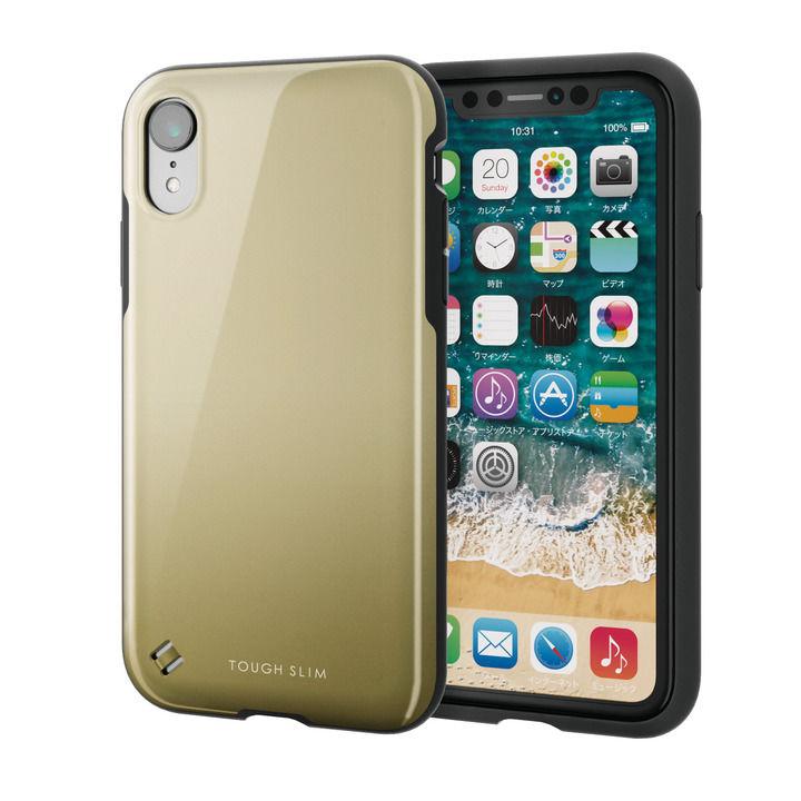 【iPhone XRケース】TOUGH SLIM2 2トーンカラーケース ゴールド iPhone XR_0