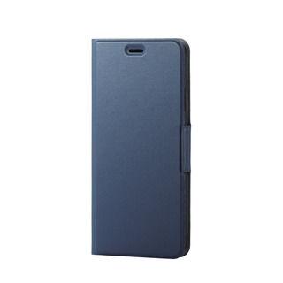iPhone XS Max ケース ソフトレザー薄型手帳型ケース 磁石付 ネイビー iPhone XS Max