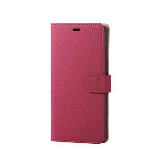 iPhone XR ケース ソフトレザー手帳型ケース サフィアノ スナップ付 ピンク iPhone XR