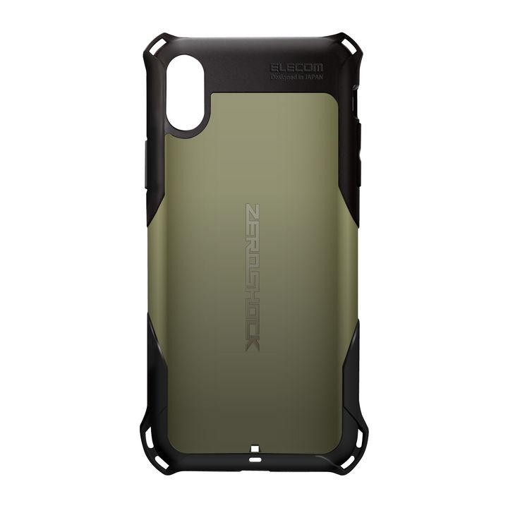iPhone XR ケース ZEROSHOCK 耐衝撃吸収ケース スタンダード カーキ iPhone XR_0