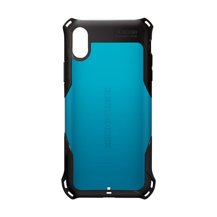 iPhone XS ケース ZEROSHOCK 耐衝撃吸収ケース スタンダード ブルー iPhone XS_0