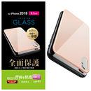 背面フルカバー強化ガラス ピンク iPhone XR