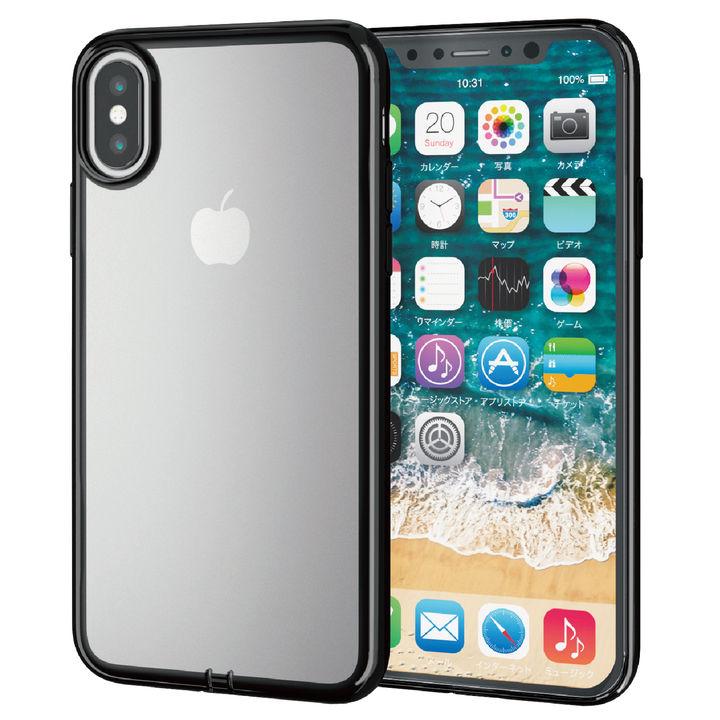 iPhone XS ケース サイドメッキソフトケース ブラック iPhone XS_0