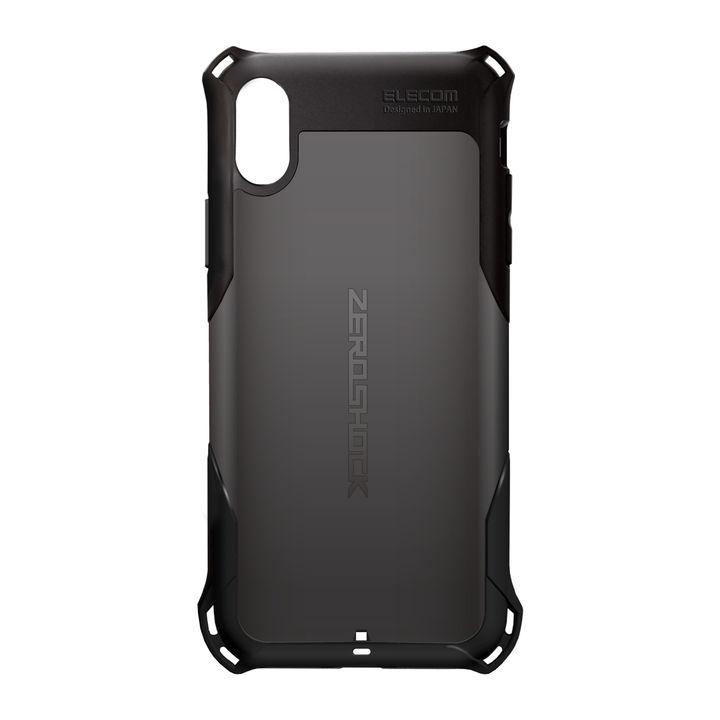 aaae17de1f [第22位] ZEROSHOCK 耐衝撃吸収ケース スタンダード ブラック iPhone XR