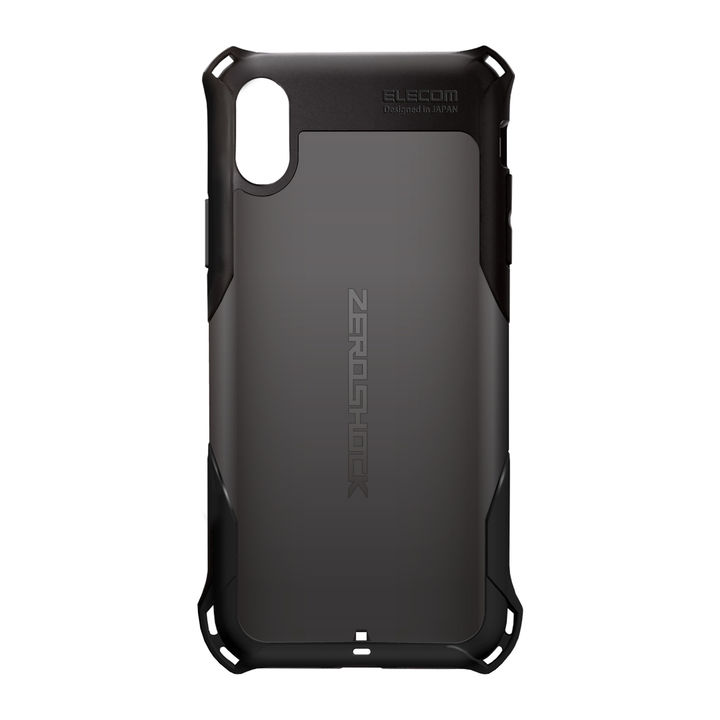 iPhone XR ケース ZEROSHOCK 耐衝撃吸収ケース スタンダード ブラック iPhone XR_0