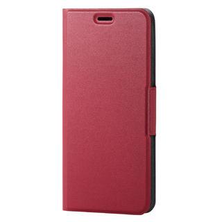 iPhone XS ケース ソフトレザー薄型手帳型ケース 磁石付 レッド iPhone XS