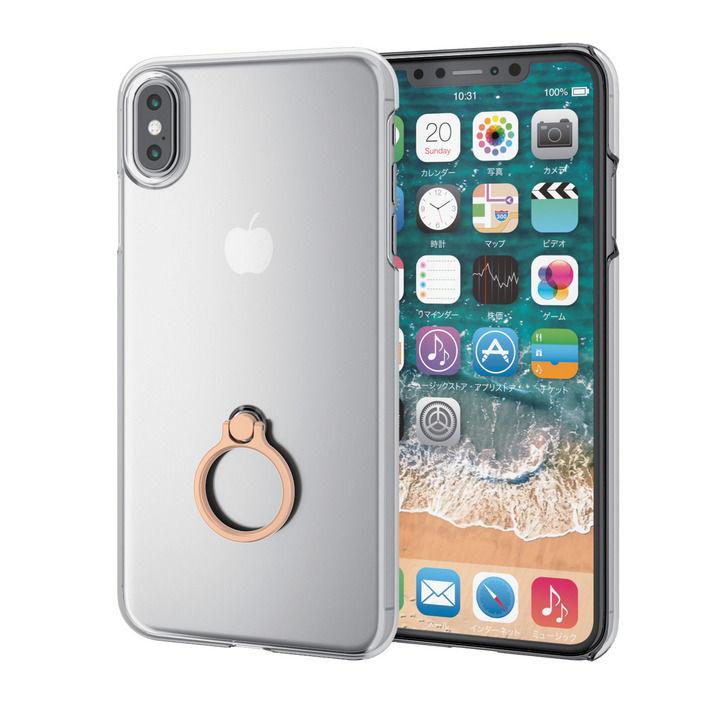 【iPhone XS Maxケース】シェルカバー リング付ケース ゴールド iPhone XS Max_0