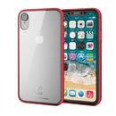 ハイブリッド強化ガラスケース スタンダード クリアレッド iPhone XR