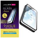 フルカバー強化ガラス ハイブリットフレーム付き ブルーライトカット/ブラック iPhone XR