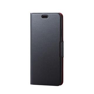 iPhone XS Max ケース ソフトレザー薄型手帳型ケース 磁石付 ブラック iPhone XS Max