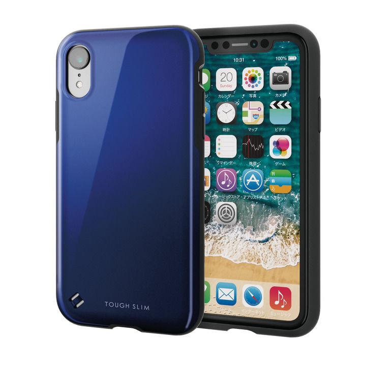 iPhone XR ケース TOUGH SLIM2 2トーンカラーケース ブルー iPhone XR_0